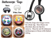 Male Badge Reel, Personalized Retractable ID Holder, Carabiner, Stethoscope, 8 Scrub Colors, 13 Characters, Doctor Nurse RN CNA Mylar N1076