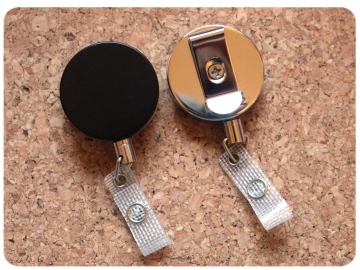 EXTRA Heavy Duty Badge Reel, Switchable Base, Permanent or Interchangeable