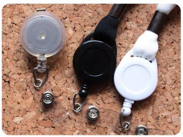 Interchangeable Badge Reel or Lanyard for The Badge Patch Switchable designs, Belt Clip, Swivel Clip, Pinch Clip - Replacement