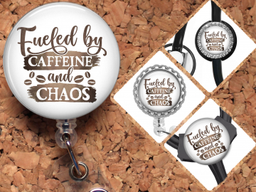 Coffee Badge Reel Retractable Lanyard Badge Holder Carabiner Id Holder Stethoscope Tag Nurse Badge Reel Gift Mylar B1092