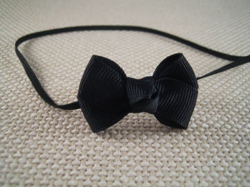 Black Baby Bow Headband