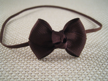 Brown Baby Bow Headband