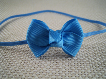 Copen Blue Baby Bow Headband