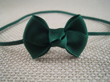 Forest Green Blue Baby Bow Headband