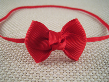 Red Baby Bow Headband